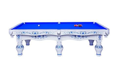 星牌中式鋼庫臺球桌XW8101-9A 定制青花瓷家用桌球臺