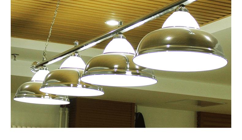 台球桌专用灯 三头银色玻璃灯具 台球半罩灯 星牌台球灯具
