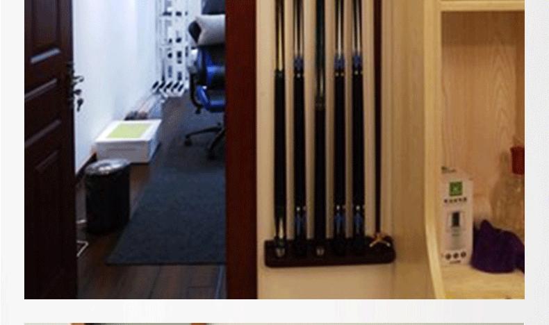 星牌XWQ-07台球杆架子 木质台球杆架 球房杆架 壁挂式球杆架