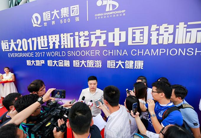 丁俊晖:定打好2017世界斯诺克中国锦标赛