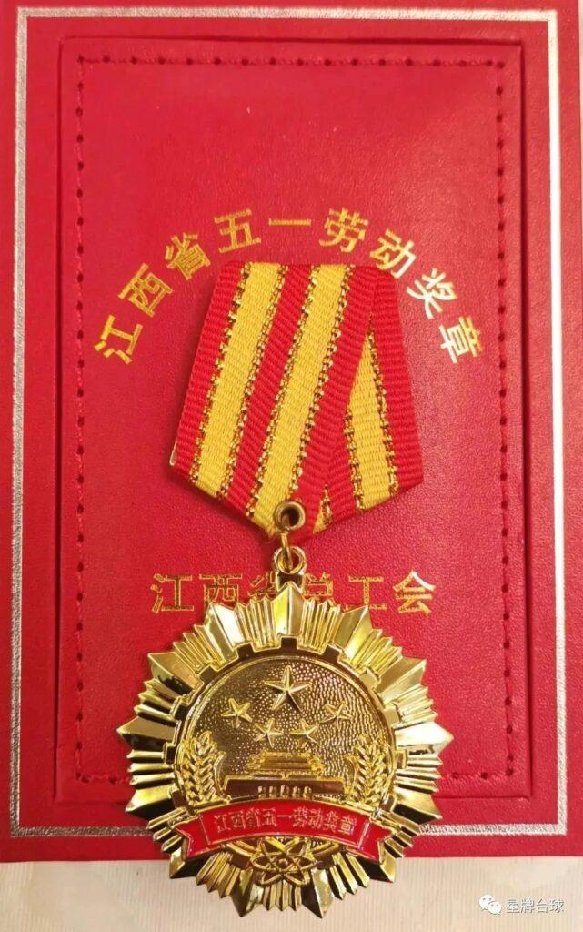 喜报!台球行业第一枚五一劳动奖章花落星牌!